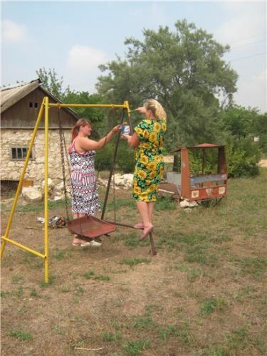 Благоустройство детской игровой площадки в х. Кунделекино
