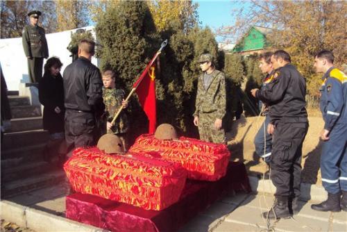 Перезахоронение солдат ВОВ